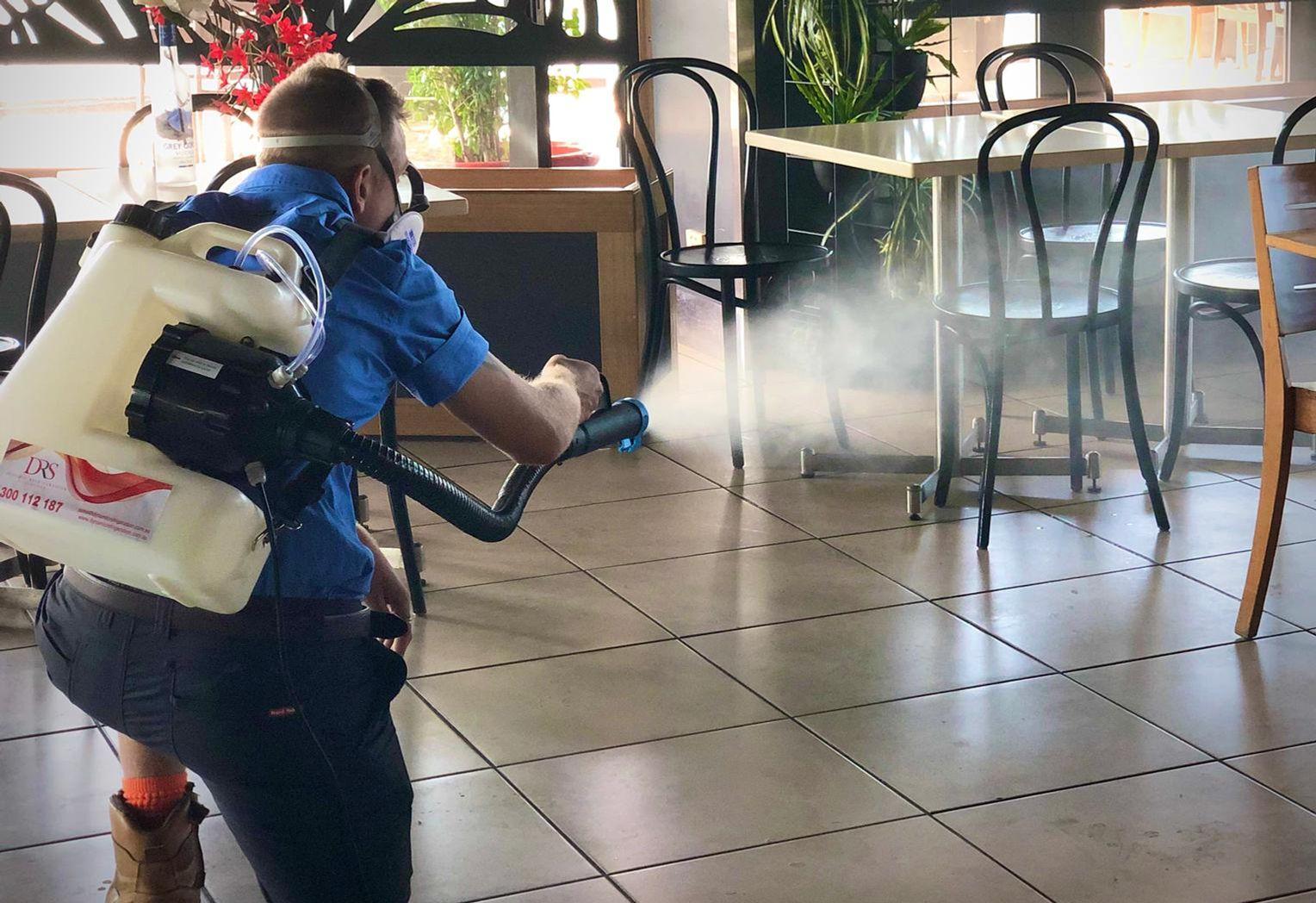 sanitising and fogging